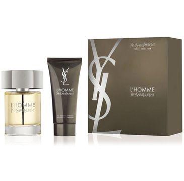 Yves Saint Laurent L'Homme – zestaw woda toaletowa spray (100 ml) + żel pod prysznic (100 ml)