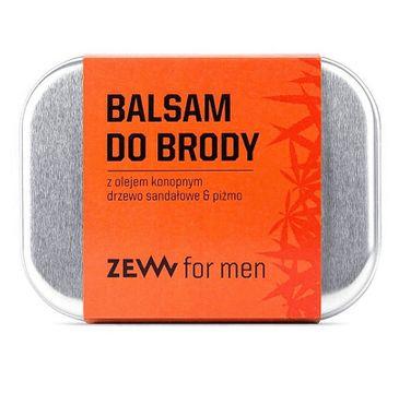 Zew For Men Balsam do brody z olejem konopnym – drzewo sandałowe i piżmo (80 ml)