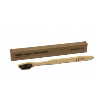 Zew For Men – Bambusowa szczoteczka do zębów dla dorosłych 100% biodegradowalna (1 szt.)