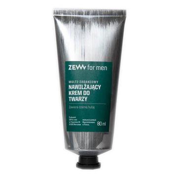 Zew For Men Multi-zadaniowy nawilżający krem do twarzy z czarną hubą (80 ml)