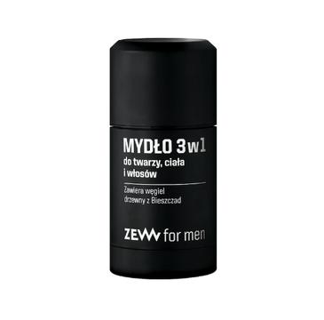 Zew For Men – Mydło 3w1 do twarzy ciała i włosów (85 ml)