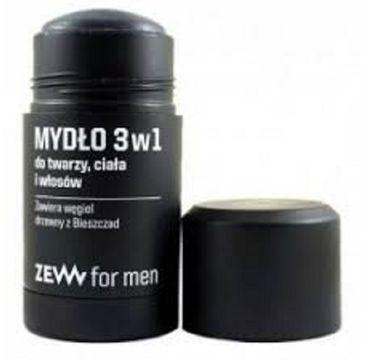 Zew For Men Mydło 3w1 do twarzy, ciała i włosów z węglem drzewnym z Bieszczad 85ml