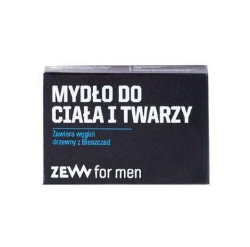 Zew For Men Mydło do ciała i twarzy z węglem drzewnym z Bieszczad (85 ml)