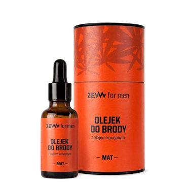 Zew For Men Olejek do brody z olejem konopnym Mat (30 ml)