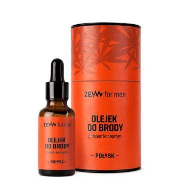 Zew For Men Olejek do brody z olejem konopnym Połysk (30 ml)