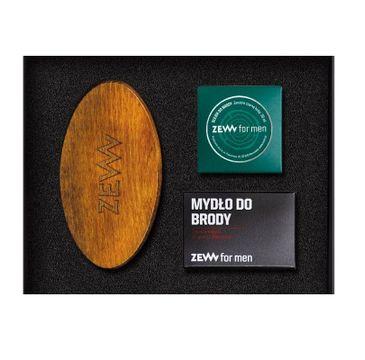 Zew For Men Schludny Drwal zestaw szczotka do brody + olejek do brody 30ml + mydło do brody z węglem drzewnym 85ml