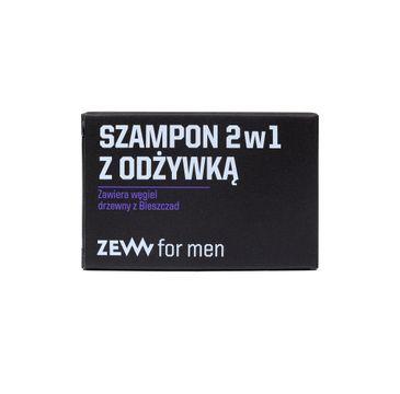 Zew For Men Szampon 2w1 z odżywką z węglem drzewnym z Bieszczad (85 ml)