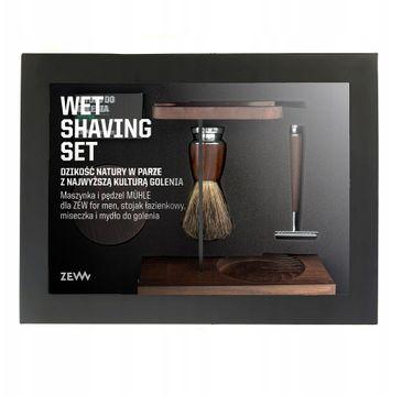 Zew For Men Wet Shaving zestaw maszynka do golenia + pędzel do golenia + miseczka + stojak na pędzel i maszynkę + mydło do golenia 85ml (1 szt.)