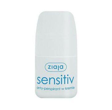 Ziaja Activ Roll On Sensitive anty-perspirant w kremie bez parabenów alkoholu i barwników 60ml