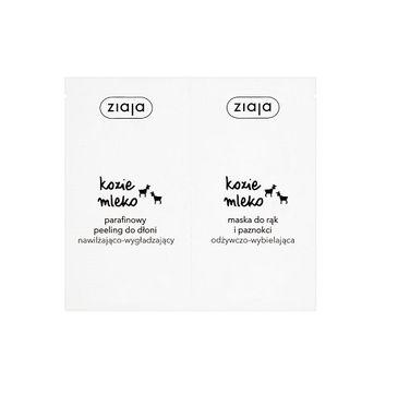 Ziaja Kozie Mleko parafinowy peeling do dłoni + maska do rąk i paznokci (2x7 ml)
