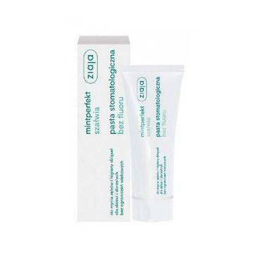 Ziaja Mintperfekt pasta stomatologiczna do zębów szałwiowa bez fluoru 75ml