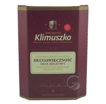 Zioła Ojca Klimuszko Długowieczność mieszanka ziołowo-owocowa smak malinowy suplement diety 20 saszetek