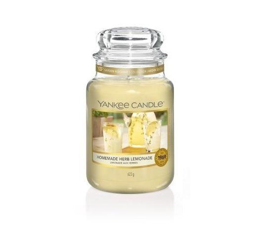 Yankee Candle – Świeca zapachowa duży słój Homemade Herb Lemonade (623 g)