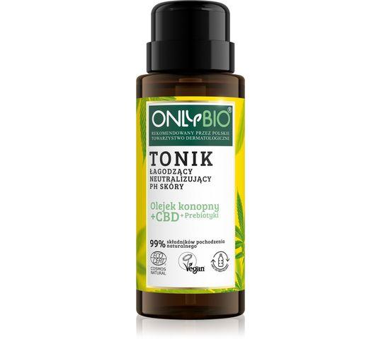 OnlyBio Olejek konopny + CBD + Prebiotyki tonik łagodzący neutralizujący PH skóry (300 ml)