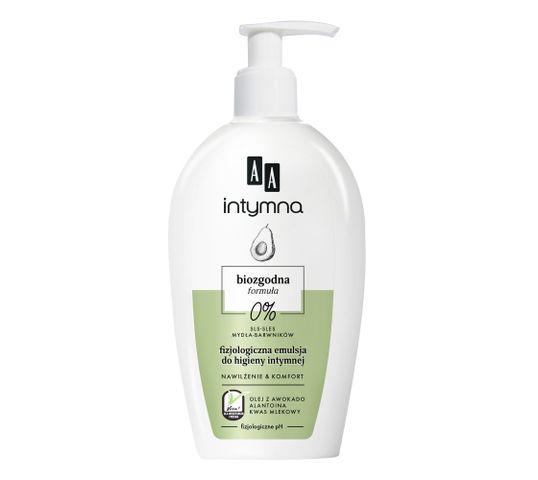 AA Intymna biozgodna formuła nawilżenie płyn do higieny intymnej Awokado (300 ml)