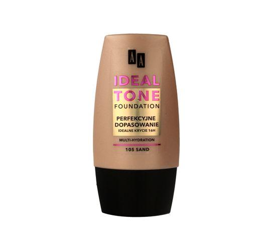 AA Make Up Ideal Tone Podkład do twarzy Perfekcyjne Dopasowanie nr 105 sand 30 ml