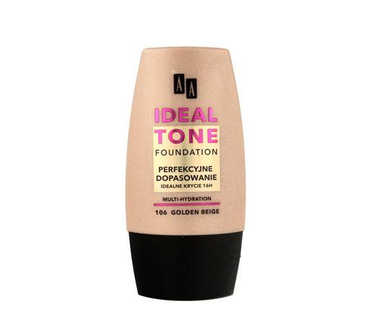 AA Make Up Ideal Tone Podkład do twarzy Perfekcyjne Dopasowanie nr 106 golden beige 30 ml