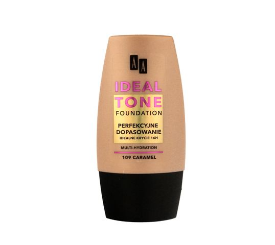 AA Make Up Ideal Tone Podkład do twarzy Perfekcyjne Dopasowanie nr 109 caramel 30 ml
