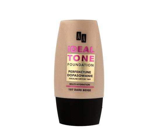 AA Make Up Ideal Tone Podkład Perfekcyjne Dopasowanie nr 107 dark beige 30 ml
