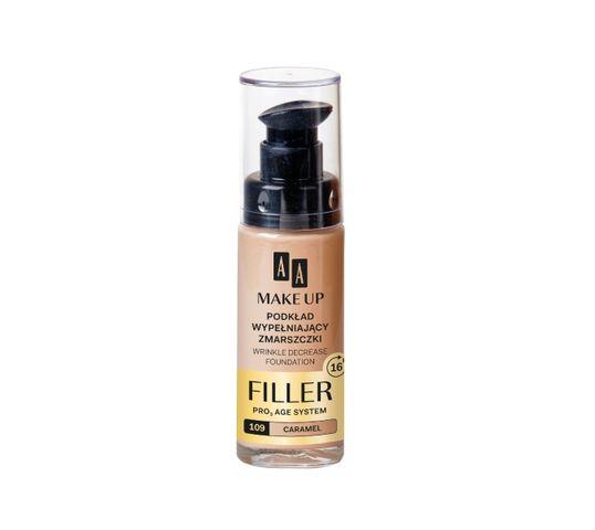 AA Make Up Podkład do twarzy wypełniający zmarszczki nr 109 Caramel 30 ml