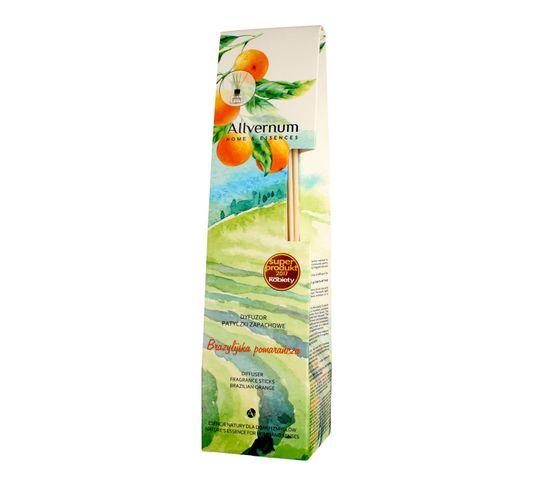 Allvernum Home & Essences dyfuzor z patyczkami zapachowymi Brazylijska Pomarańcza 50 ml