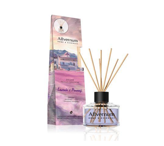 Allvernum Home & Essences dyfuzor z patyczkami zapachowymi Lawenda z Prowansji 100 ml