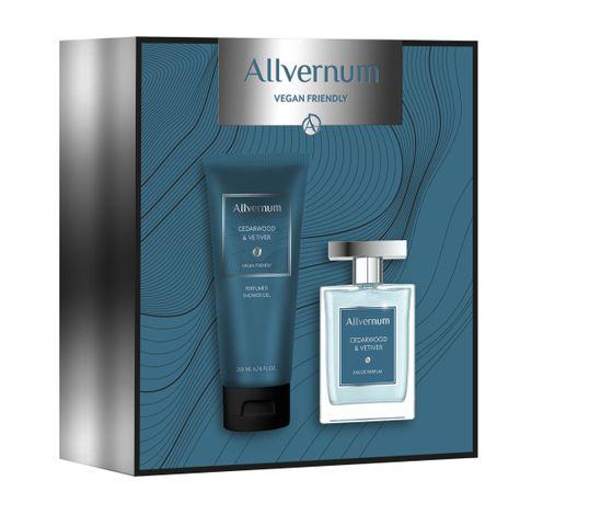 Allvernum – Men Zestaw prezentowy CedarWood & Vetiwer woda perfumowana 100ml+żel pod prysznic 200ml (1 szt.)