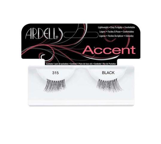 Ardell Accent - rzęsy połówki 315 Black (1 op.)
