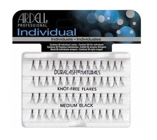 Ardell Rzęsy i akcesoria Individual Knot-Free zestaw 56 kępek rzęs Medium Black
