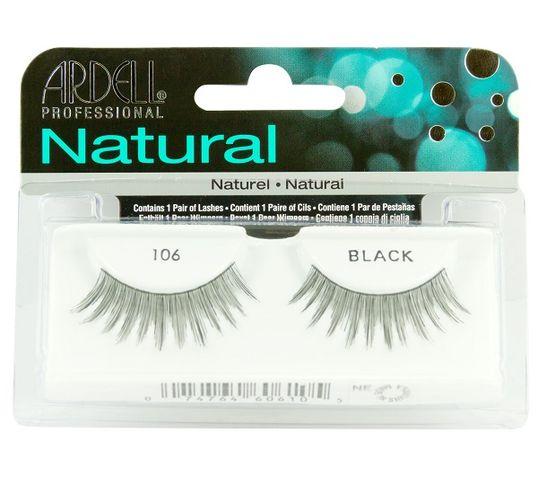 Ardell Rzęsy i akcesoria Natural 106 1 para sztucznych rzęs Black