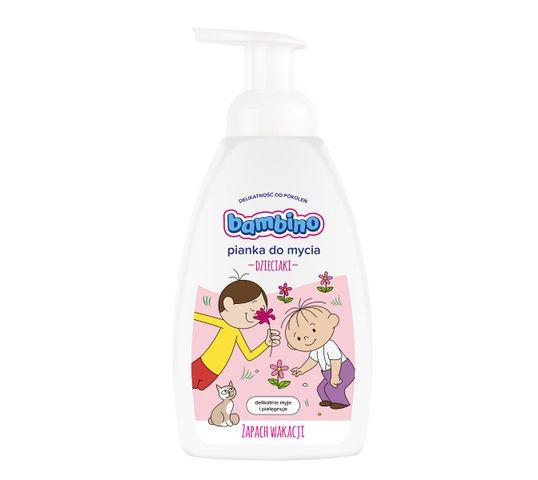 Bambino pianka myjąca dla dzieci Zapach Wakacji dla dziewczynek 500 ml