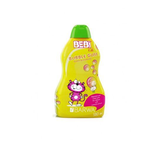 Barwa Bebi Kids Shampoo & Bubble Bath szampon i płyn do kąpieli dla dzieci 2w1 Bubble Gum 380ml