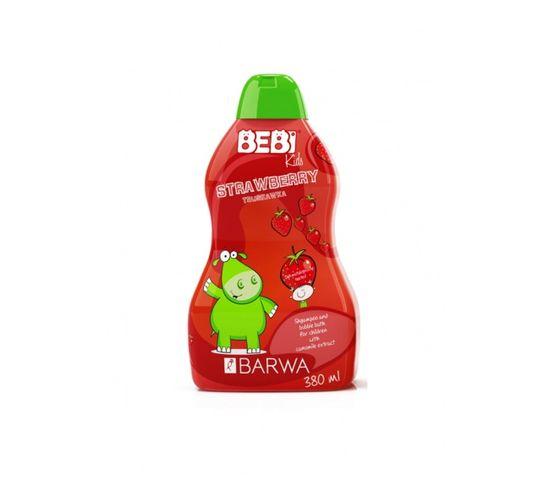 Barwa Bebi Kids Shampoo & Bubble Bath szampon i płyn do kąpieli dla dzieci 2w1 Strawberry 380ml