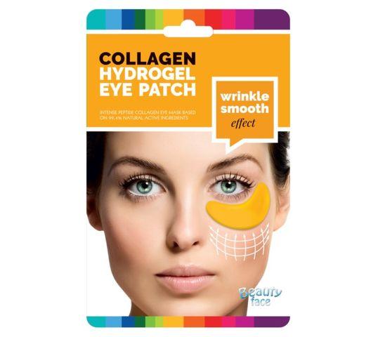 Beauty Face Collagen Hydrogel Eye Patch przeciwzmarszczkowe płatki hydrożelowe pod oczy ze złotem i kwasem hialuronowym