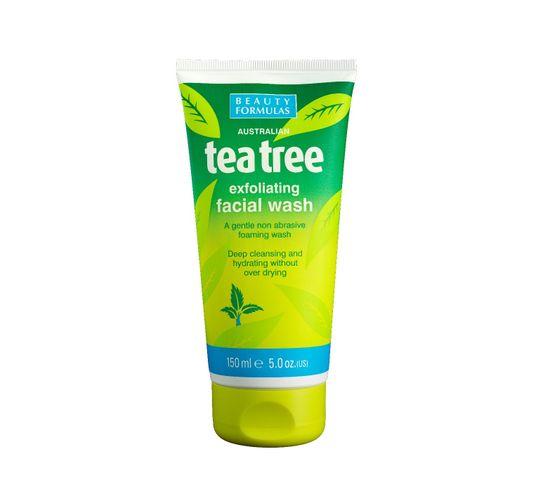Beauty Formulas Tea Tree Żel złuszczający do mycia twarzy 150 ml