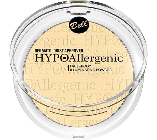 Bell Hypoallergenic Puder rozświetlający do twarzy i ciała nr 02 (6 g)