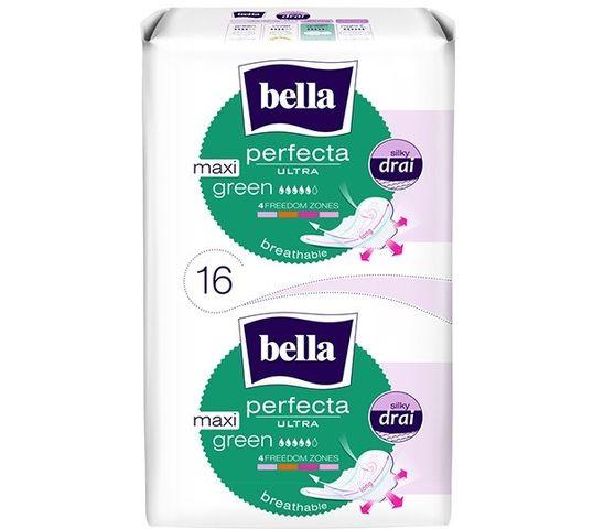Bella Perfecta Green Maxi Podpaski ultra cienkie silky dry  (1op. - 16 szt.)