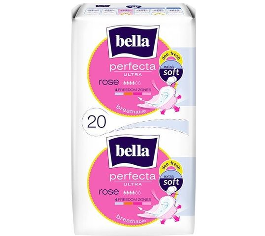 Bella Perfecta Rose Podpaski ultra cienkie extra soft - deo fresh (1op. - 20 szt.)