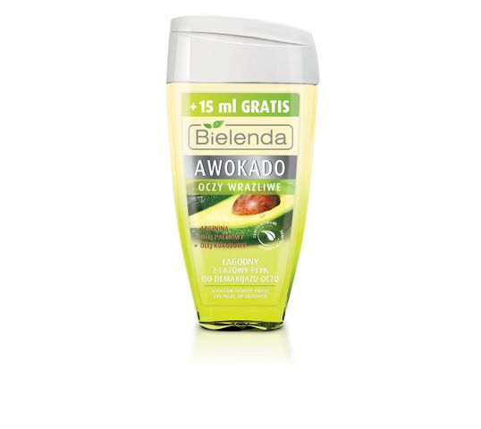 Bielenda dwufazowy płyn do demakijażu oczu - awokado (125 ml)