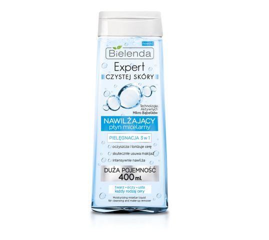 Bielenda Expert Czystej Skóry – płyn micelarny 3w1 nawilżający do demakijażu twarzy (400 ml)