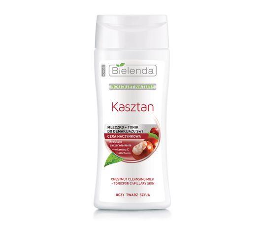 Bielenda Kasztan – mleczko z tonikiem do demakijażu twarzy odświeżająco-nawilżające (200 ml)