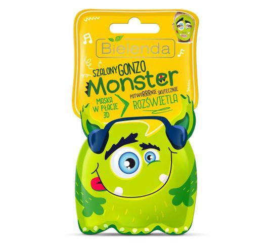 Bielenda Monster – maska w płacie 3D rozświetlająca Szalony Gonzo (1 szt.)