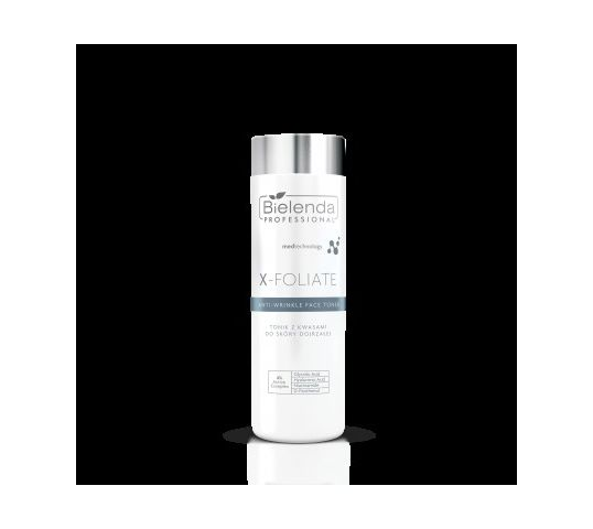 Bielenda Professional X- Foliate Anti Wrinkle Tonik kwasowy do skóry dojrzałej (200 ml)