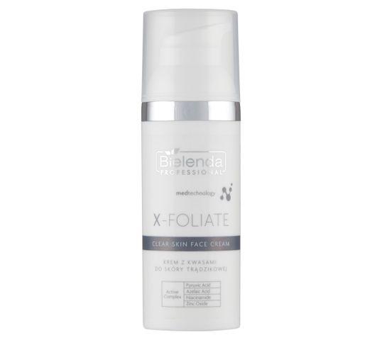 Bielenda Professional X- Foliate Clear Skin krem z kwasami do skóry trądzikowej 50 ml