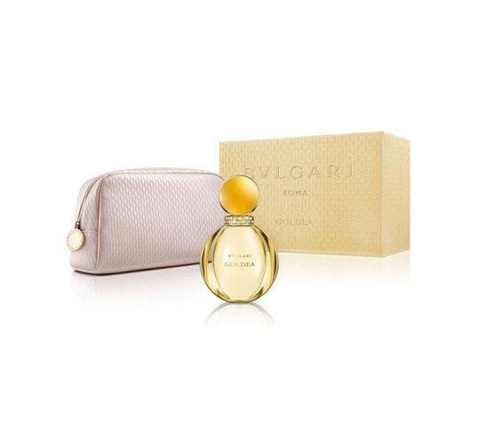 Bvlgari Goldea zestaw woda perfumowana spray 90ml + kosmetyczka