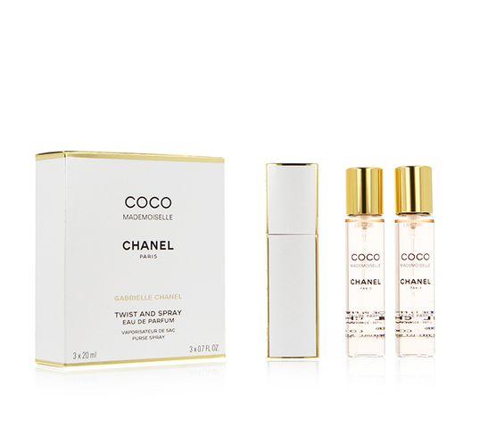 Chanel Coco Mademoiselle woda perfumowana spray z wymiennym wkładem 3x20ml