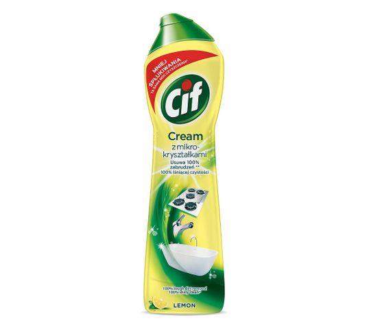 Cif Cream Lemon mleczko z mikrokryształkami do czyszczenia powierzchni 540g