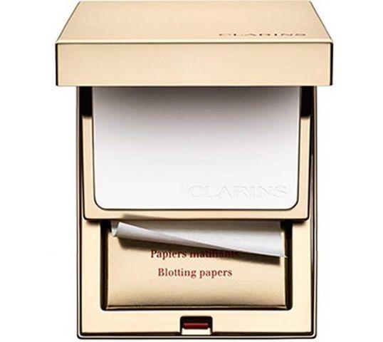 Clarins Pore Perfecting zestaw bibułki matujące + puder matujący 6,5g