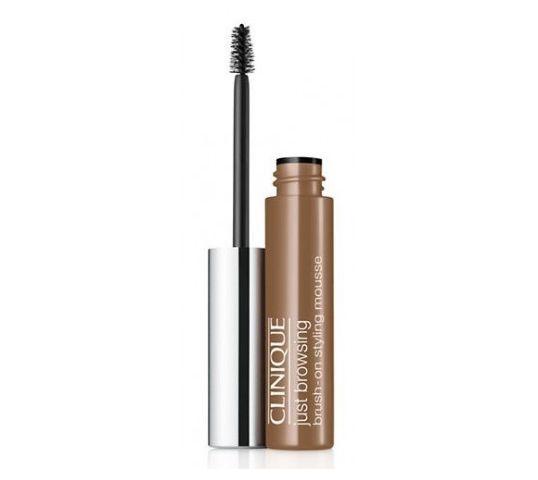 Clinique Just Browsing Brush-On Styling Mousse koloryzowany żel do makijażu brwi 02 Light Brown 2ml