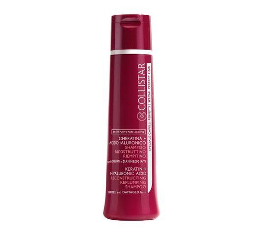 Collistar Keratin Hyaluronic Acid Reconstructing Shampoo szampon do włosów z kwasem hialuronowym 250ml